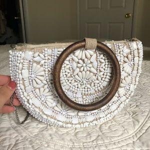 Zara half moon handmade beaded embroidered bag